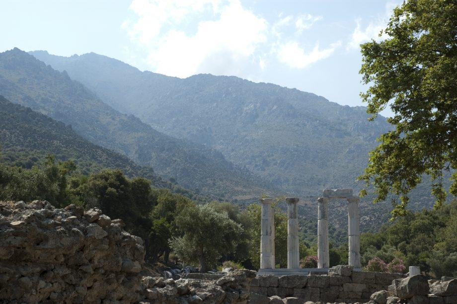 View of Hieron against ayios Giorgios