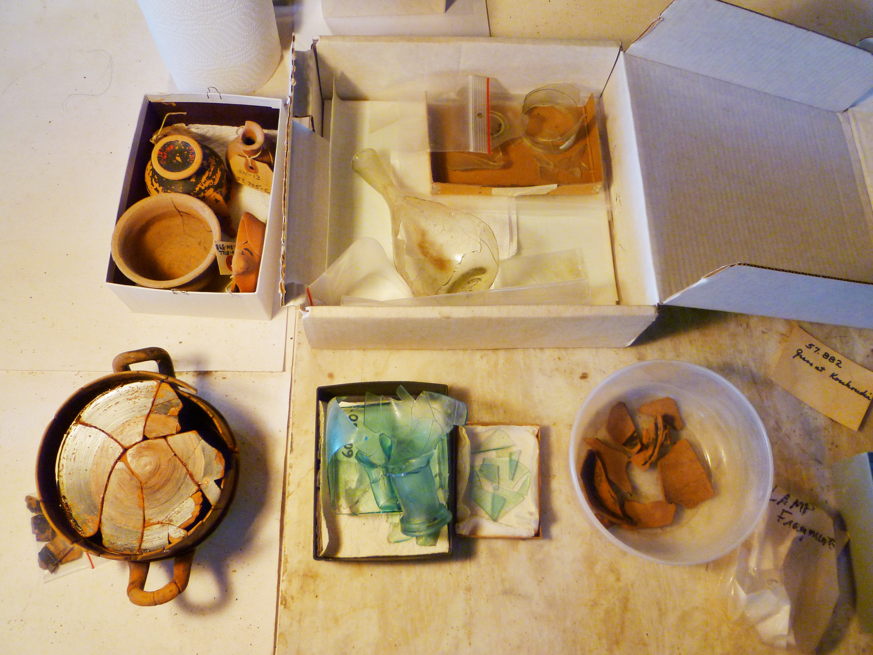 Objects in the conservation queue.