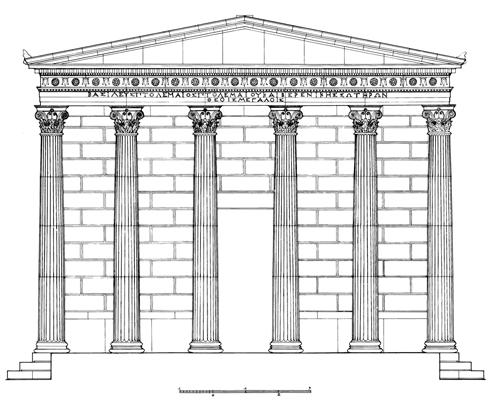 propylon corinthian facade map